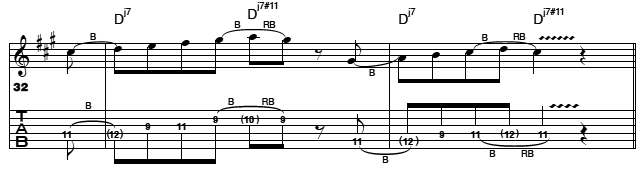 modal lick lydian for guitars