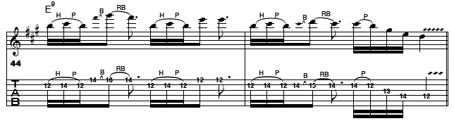modal lick mixolydian for guitars