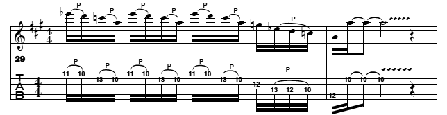 pentatonic blues lick pattern 5 for guitars