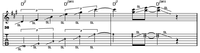 Modal Lick Lydian for Guitar