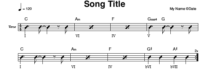 Song Title (Rhythm Chart)