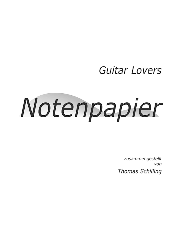 Guitar Lovers Notenpapier