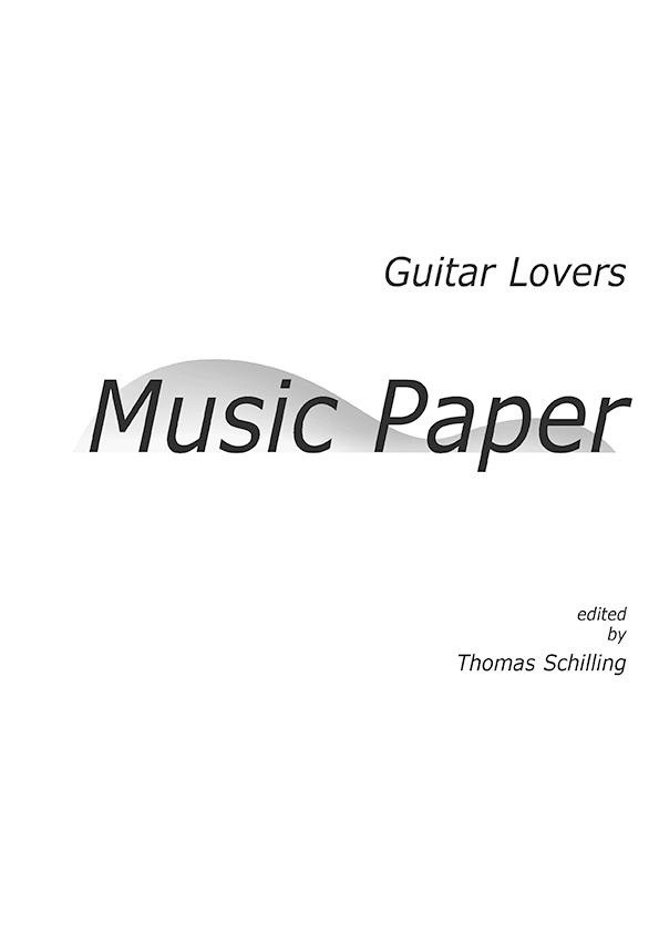Guitar Lovers Music Paper